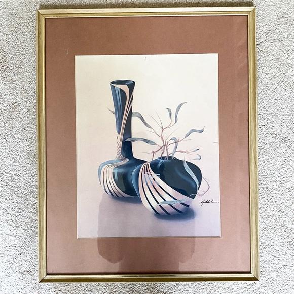Vintage Wall Art Vintage Art Deco Black Marble Vase Framed Print Poshmark